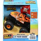 Hot Wheels Monster Trucks Radio Control Tiger Shark 1:43 New Bright