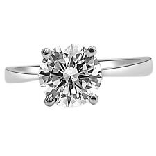 0.19 cts H/SI3 Round Diamond SDJ CERT Solitaire 14kt White Gold Engagement Ring