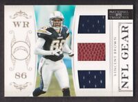 2011 National Treasures NFL Gear Triple Jersey #35 Vincent Brown /99 Chargers