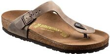 BIRKENSTOCK GIZEH THONGS TOBACCO BROWN LEATHER TABACCO MEN WOMEN'S THONG SANDALS