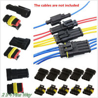 15 Kits 2/3/4 Pins Waterproof Electrical Wire Connector Plug Car Auto Motorcycle