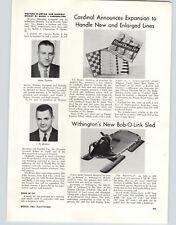 1962 PAPER AD Withington's New Bob-O-Link Bob Sled Article Christmas Tree
