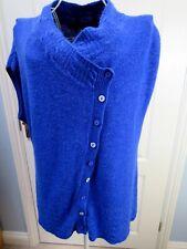 PER UNA Cobalt Blue Asymmetric Long Cardigan L 16 18 Lagenlook Quirky Knit