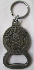 DEATH WISH COFFEE CO SKULL & BONES LOGO KEY RING BOTTLE OPENER -  NEW