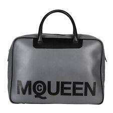 Alexander McQueen logo Gris Homme Unisexe Bowling Weekender Sac de voyage
