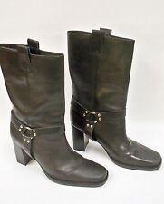 Women's Dress Heels Boots Leather Darren Brazil 9M LLF Black