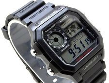 CASIO Vintage Retro AE1200WH-1A AE-1200WH-1A 10-Year Battery World Time @