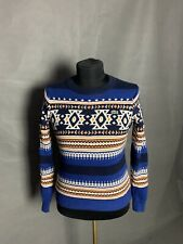 Lacoste LIVE! Men's Blue Knitted Crewneck Sweater Size 3
