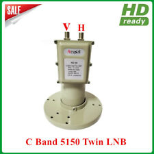 C band Dual Polarity Twin LNB One Port For Vertical Another For Horizontal
