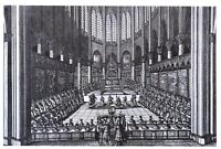 New Art Postcard, Choir of NOTRE DAME of Paris 1669 Te Deum by Jean Marot 96O