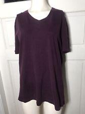 Banana Republic Top Size L Purple Soft Wash T-shirt Tee V-Neck Short Sleeve