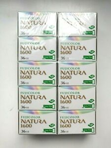 10 x Fujifilm Natura 1600 High Speed Color Film - New In Box - Rare!
