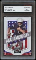 ZACH WILSON 2021 LEAF DRAFT ALL-AMERICAN 1ST GRADED 10 ROOKIE CARD BYU COUGARS