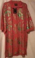 Dream USA Mens Shirt Polo Style Short Sleeve 4XL Red Green Music Rock Roll