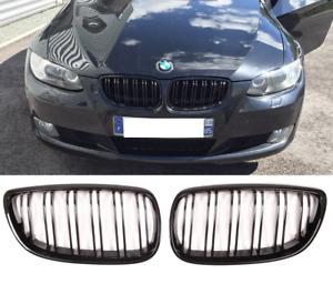 BMW E92 E93 06-10 & M3 gloss black front front grilles grills double spoke UK