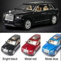 1:24 Rolls Royce Cullinan Diecast Alloy Car Simulation SUV Metal Light Sound
