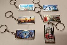6 pcs 3D I Love London England souvenirs Gifts Metal Keyring  Uk Stock