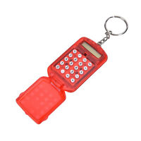 Useful Plastic Pocket With Keyring 8 Digit Display LCD Screen Mini CalculatorRDR