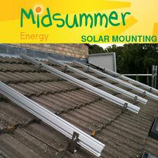 Tiled / Slate Roof Mounting Kit for 12 Solar PV Panels for Home / Shed / Garage