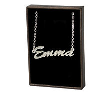 EMMA 18ct White Gold Plating Necklace With Name - Personalised Christmas Custom