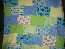 Baby Infant Flannel Rag Quilt - 32 X  50