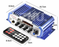 Ultra Mini Audio FM Radio Stereo Amplifier AMP For Car Motorcycle USB/MMC/U