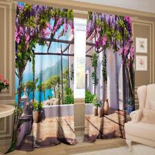 2er Set Gardinen 3D Fotodruck Vorhang - Krim, Gabardine, 145 х 270 cm