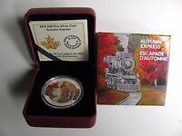 2015 Proof $20 Autumn #3-Express Canada .9999 silver twenty dollars train
