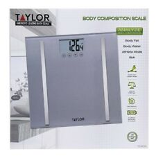 NEW Taylor Body Composition Scale 400 lb capacity Steel & Glass