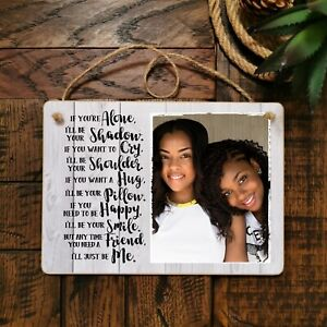 8x6'' Personalised Photo Hanging Plaque Friendship Quote Best Friends Gift BFF