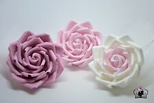 "sugar paste flowers, roses set 4""x3  handmade, cake topper, wedding, dusky pink"