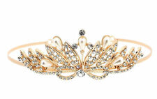 Gold Wedding Tiaras and Headbands