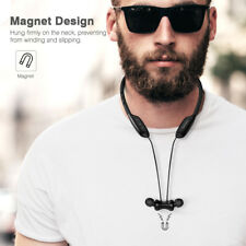 Excelvan W1 Bluetooth Wireless Headset IPX5 Neckband Magnetic Earphones with Mic