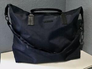 NIP NARCISO RODRIGUEZ Xtra Large Blue Travel Tote Bag BLUE NOIR Weekend Bag