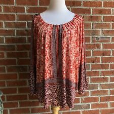 Lucky Brand Long Sleeve Boho Top - Size XL