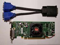 DELL Windows 10 DUAL MONITOR VGA Video  Graphics Card AMD HD Radeon 6350 SFF HP