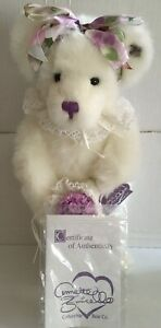 "Annette Funicello ""Lavender Bouquet""  Collectable Plush Bear! MINT! NIB! w/ COA"