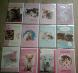 HAPPY BIRTHDAY CARD*CUTE CATS*DOGS*KITTEN*PUPPY*CHOOSE DESIGN*GREETING*ANIMALS
