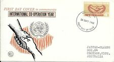NZFD794  New zealand international co-operation year  cover   1965   FDC $4.00