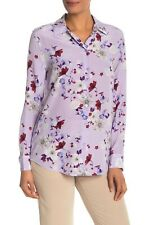 NEW Equipment Essential Orchid 100% Silk Blouse in Lilac- Size L #T158