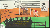 JESSE OWENS #2496 Pugh Hand Painted FDC 4 Gold Medals 1936 Olympics (LOT 1260)