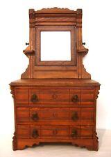 New Listingsman S Sample Victorian Oak Dresser With Mirror Child Size Original Finish