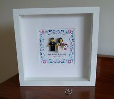 Deluxe unique personalised LEGO Wedding / Anniversary gift frame AFOL