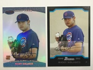 2004 Ricky Nolasco, Bowman's Best, Autographed Auto + First Year, ROOKIE CARD RC