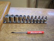 NEW Blue-point Tools 11 Piece Inverted Torx Chrome Socket Set E4-E20 & Snap-on