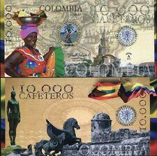 COLOMBIA EL DELA MONEDA MEDELLIN 10,000 CAFETOROS POLYMER 2013