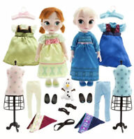 Disney Store Frozen Animators' Deluxe Doll Anna & Elsa  Gift Set -Original