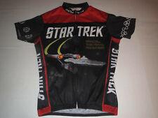 Retro Brand Star Trek Cycling Full Zip Jersey T-shirt Adult Small