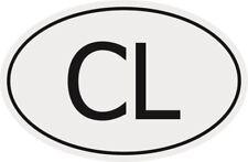 Aufkleber Autokennzeichen CL = Sri Lanka Autoaufkleber Sticker