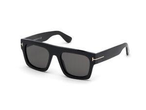 TOM FORD Sunglasses FT0711 FAUSTO  01A black smoke